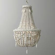 farmhouse antique white wood bead chandelier 110v hanging pendant lighting lamp