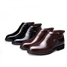 leather boots men plush warm winter shoes men black brown winter men boots work safety shoes mens ankle boots