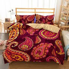 bohemian comforter bedding sets duvet cover set winter bedsheet pillowcase queen king size bedlinen bedspread 3