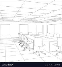 office meeting room. Interior Office Meeting Room Tracing Vector Image U