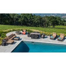 Niko 8piece Modular Seating Set In Slate By Sirio™  Patio Niko Outdoor Furniture