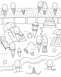 Free Downloadable Summer Fun Coloring Book Pages Fun Coloring BooksL