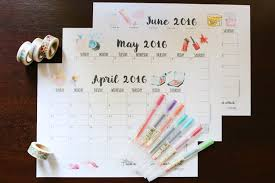 monthly planner free download free download weekly and monthly planner printables for 2016