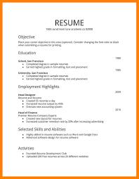 5 Simple Resume Model Simple Cv Formate