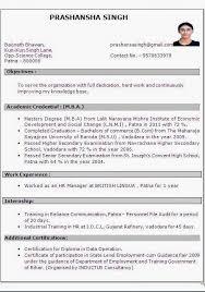 Mba Experience Resume Format Sample Mba Resumes Spectacular Harvard