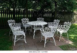 white iron garden furniture. White Wrought Iron Furniture Captivating Outdoor Garden Stock Photos .