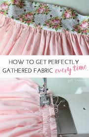 How To Gather Fabric On A Sewing Machine