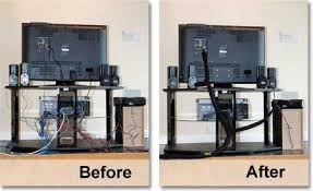 Messy behind TV stand cables without WireMate Cord Organizer - icon | Shop  | Pinterest | Tv stands, Cord and Cable