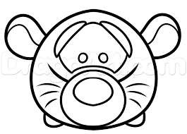 How To Draw Tsum Tsum Tigger Step By Step Disney Characters