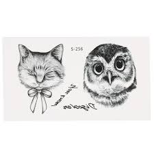 временная татуировка фауна