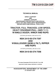 caterpillar d8k tractor serial 77v5006 up parts catalog tm 5 2410 caterpillar d8k tractor serial 77v5006 up parts catalog tm 5 2410 234 34p
