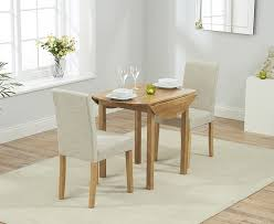 mark harris promo solid oak round drop leaf extending dining set with 2 maiya cream chairs