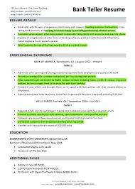 Resume Skills For Bank Teller 17 Bank Customer Service Highlights