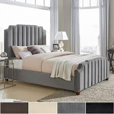 Chareau Velvet Upholstered Nailhead Bed by iNSPIRE Q Bold - Free Shipping  Today - Overstock.com - 20994608