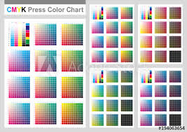 Adobe Cmyk Color Chart Cmyk Press Color Chart Vector Color Palette Cmyk Process