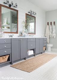Bamboo Vanity Bathroom New Lake House Master Bath Makeover Bathrooms Pinterest Bathroom