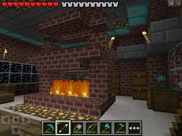 how to make a fireplace in minecraft creative mode image