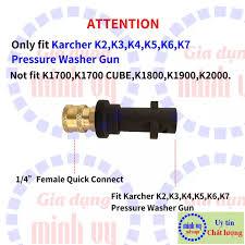 Bộ đầu chuyển thay béc súng xịt rửa máy rửa xe Karcher K2 - K7