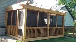 patio screen room gable