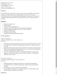 Objective For Resume For Nursing Best Of Er Nurse Resume Template Best Design Tips MyPerfectResume