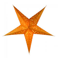 Foldable Advent Starlight Paper Star Christmas Star Astor Orange 60x60x20 Cm ø60 Cm
