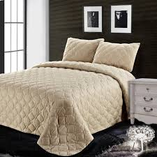 3PC Reversible Quilt Set Comfortable Coverlet Solid Color Beige ... & 3PC Reversible Quilt Set Comfortable Coverlet Solid Color Beige/Brown/Red/Green/Deep  Red Queen/King Size-in Bedding Sets from Home & Garden on ... Adamdwight.com