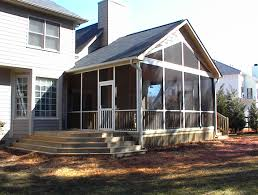 Pitched Porch Roof Design Charlotte Huntersville Screen Porch Sunroom Room Addition