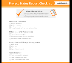 Project Status Report Checklist Creating Your Weekly Report