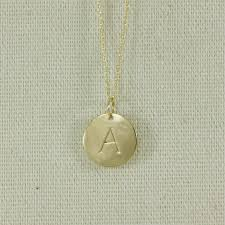 9k gold initial necklace