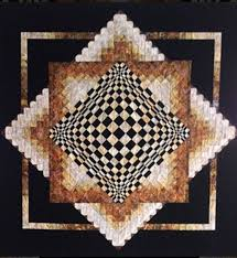 312 best I want to make 3D QUILTS!! images on Pinterest | Black ... & Convex Illusions Quilt Pattern KWA-1001 (advanced beginner, lap and throw,  wall Adamdwight.com