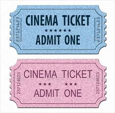 Movie Ticket Template For Word Shooters Journal