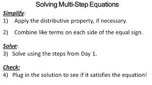 solving a multi step equation jennarocca equations worksheet 8th grade sl