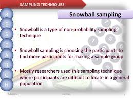 However, the diversity of samples generated via this method has repeatedly been questioned. Sampling Methods Random Systematic And Snowball