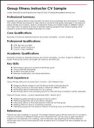 Ideas Collection Sample Fitness Instructor Resume With Template