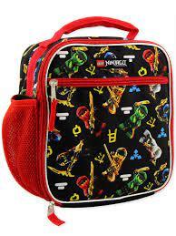 Lego Ninjago Masters of Spinjitzu Boys Soft Insulated School Lunch Box (One  Size, Black/Red): Amazon.sg: Home