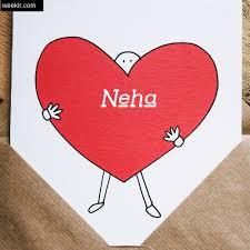 heart image love letter neha write