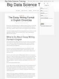 The Essay Writing Format In English Chronicles Bpi The