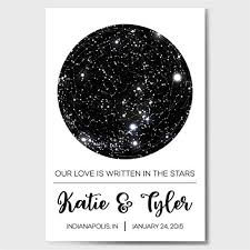 Birthday Sky Chart Custom Personalized Star Constellation Map Star Chart Custom Engagement Anniversary Birthday Baby Wedding Present Cool Gift Idea Night Sky Poster