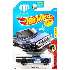 Hot Wheels 2017 HW Daredevils Mazda Repu Pickup Truck Matte Black ...