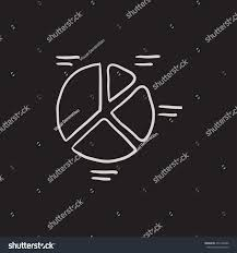 Pie Chart Vector Sketch Icon Isolated Stock Vector Royalty