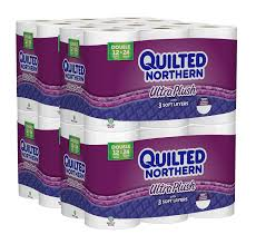 Amazon.com: Quilted Northern Ultra Plush Toilet Paper, Pack of 48 ... & Amazon.com: Quilted Northern Ultra Plush Toilet Paper, Pack of 48 Double  Rolls (Four 12-roll packages), Equivalent to 96 Regular Rolls: Health &  Personal ... Adamdwight.com