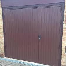 steel side hinged garage door installed in wantage after