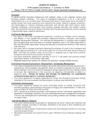 Call Center Manager Resume Berathen Com