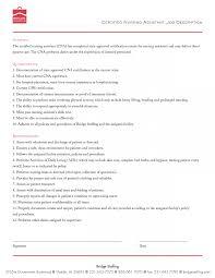 Cna Duties Resume Nurse Job Description Template Cna For Resume Duties Format 18