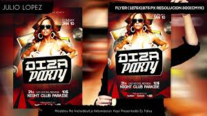 diza party flyer template psd descargar flyer 2015