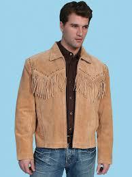 scully texan boar suede fringe jacket men s bourbon