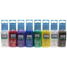 window color acrylic paint set 8 colors