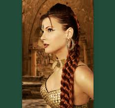 Viking Hairstyle Female 7 strand braid hair extension renaissance wedding costume custom 6597 by wearticles.com