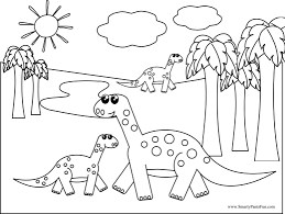 Kleurplaat Printable Rex And Triceratops Coloring Page Book Dinosaur