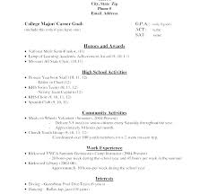 Student Cv Template No Experience